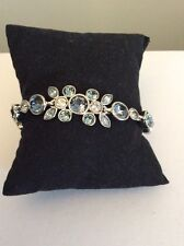 $68 Givenchy Double Blue Flower Stone Bracelet #45 GB