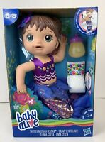 Baby Alive Shimmer N Splash Mermaid Doll Toy with Accessories Hasbro Brunette