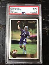 1993 Topps Gold Draft Pick Drew Bledsoe #130 Football Card Patriots PSA 9 MINT