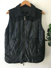 Rare Giorgio Brato Leather Vest Black Mens 44 XS/S Made in Italy