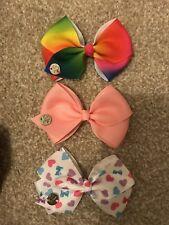 X3 JoJo Siwa Pink Heart Bows Brand New