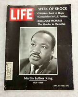 Life Magazine April 12, 1968 Martin Luther King 1929-1968 Week of Shock VG