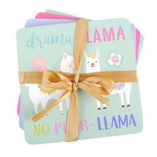 Llama Coasters - Set of 4