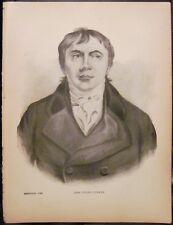Antique Irish Print JOHN PHILPOT CURRAN Portrait Ireland Murphy & McCarthy 1898