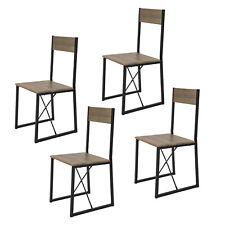 SoBuy 4-er Set Esszimmerstuhl mit Rücken-Lehne Küchenstuhl Balkonstuhl FST67x4