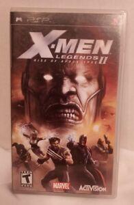 X-Men Legends II 2 Rise Of Apocalypse (Playstation Portable PSP, 2005) CIB