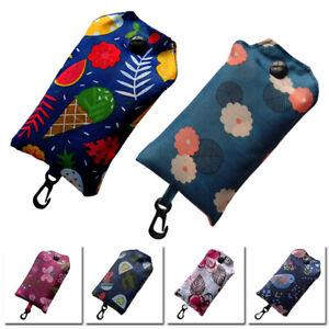 Reusable Printed Folding Shopping Bag Large Capacity Grocery Tote Travel Handbag