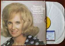 Tammy Wynette PSA DNA Coa Signed Greatest Hits w/ Vinyl Autograph