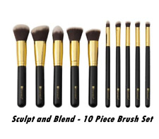 BH Cosmetics - Sculpt and Blend  - 10 Piece Brush Set