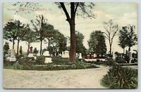 Carlinville IL~Cemetery Tombstones~Dirt Road by Grave Sites~1910 Kraemer Art Co