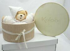 Kaloo doudou boule ours blanc lutin tissu avec sa boite 18 cm environ debout