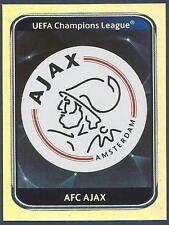 PANINI UEFA CHAMPIONS LEAGUE 2010-11- #447-AJAX TEAM BADGE-SILVER FOIL