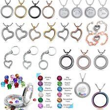 Living Memory Floating Family Charm Locket Pendant Necklace Bracelet Keyring Hot