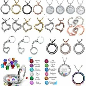 Living Memory Floating Family Charm Locket Pendant Necklace Bracelet Keyring New