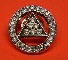 - Rhinestone Triangle Alcoholics Anonymous Lapel Pin