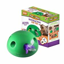 New listing Interactive Motion Cat Toy w/ Random Moving Feather Mouse Teaser Auto Shut Off
