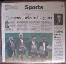 Boston Globe Sports Section: 8/15/2014: Roger Clemens, Pedro Martinez, Red Sox