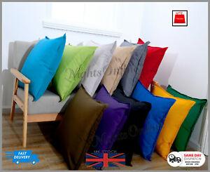New Plain Indoor Outdoor Waterproof Garden Furniture Cushions Covers 2 Sizes