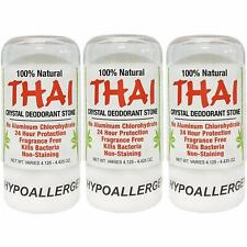 Thai Natural Crystal Deodorant Stone 4.25 oz Pack of 3
