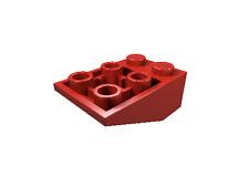 20 x [neu] LEGO Dachstein invers 33° 3 x 2 - rot - 3747