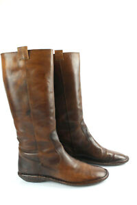 Nana' Riding Boots Brown Leather Beautiful Patina T 39 Good Condition