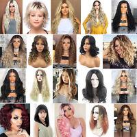 Femme cheveux pleine perruque Bouclé Ondulé Lisse Brésilienne Wigs Synthétique