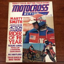 MOTOCROSS ACTION APRIL 1976 MARTY SMITH YZ400 HANNAH HANGTOWN  WINTER NATIONALS