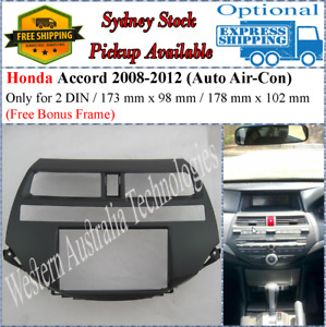 Fascia facia Fits Honda Accord 2008-2012 Double Two 2 DIN Dash Kit*