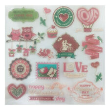 Happy Red Valentine Silicone Clear Rubber Stamp Seal For DIY Scrapbooking Album