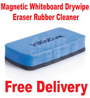 Premium Magnetic Whiteboard Drywipe Eraser Rubber Cleaner - Free Delivery