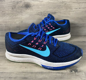 Nike Air Zoom Structure 18 Running Shoes Womens Size 6 Blue Sneakers 683737-400