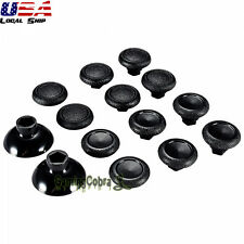 12 Pcs Thumbsticks with 2 Plastic Bottom for Xbox PS4 Controller Black Removable