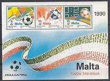 Malta Block 11 postfrisch Fußballweltmeisterschaft in italien
