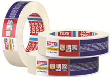 Tesa HIGH QUALITY MASKING TAPE 50mmx50m Roll, Natural Rubber Adhesive