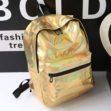 Laser Backpack Silver Gold Holographic Bag Gammaray Rainbow Iridescent Backpack