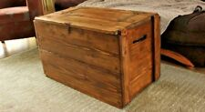 Rustic Wooden Chest Trunk Vinyl Storage Coffee Table Black, LOADS OF COLOURS!