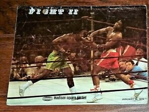 1974 MUHAMMAD ALI v JOE FRAZIER MADISON SQUARE GARDEN II OFFICIAL BOXING PROGRAM