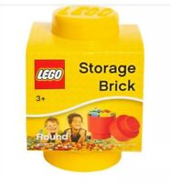 New Lego Round Stackable Storage Brick Yellow