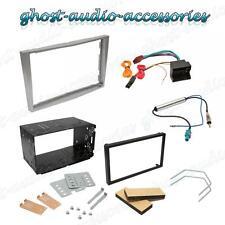 Opel Silber Verkleidung Doppel DIN Montagesatz Gitter Adapter Rahmenplatte