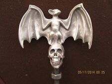 vampire bat on skull, supernatural,halloween,ratrod hotrod,car hood ornament