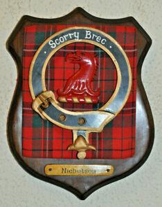 Clan Nicholson wall plaque shield crest scottish Scotland tartan