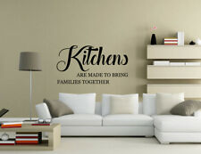 Kitchens bring family together Wall Quotes Living Room Wall Stickers UK 50a