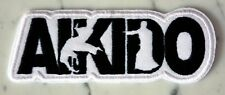 Aikido b&w IRON ON PATCH Aufnäher Parche brodé patche toppa