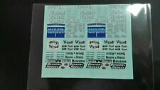 1/43 1998 1999 F1 Tobacco Decals B&H, West, Mild Seven, Winfield *for 10 cars*