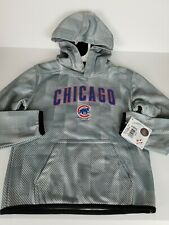 NEW Chicago Cubs Hoodie Child's Size 6/7-Gray-Lined Warm-Long Slv-Front Pocket