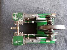 Scratch built vintage horizontal live steam engine
