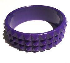 Purple Spike Emo Goth Punk Chunky Cuff Bracelet Bangle Fashion Accessorises Gift