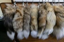 Real Wild Animal Red Fox Fur Tail Luxury Handbag Keyring Charm Tassel