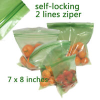 20 pcs Keep Stay Fresh Longer Green Bags Storage Vegetable Fruits Produce Zippe
