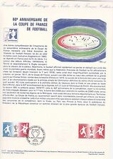 Document Philatélique Timbre  1er Jour : 11/06/ 1977  - Coupe de France Football